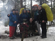 Фотографии с занятий по горному туризму, посвященные спасательным работам в горах