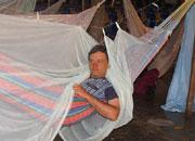 Гамак в гостинице в Южной Аменике фотография путешественника Николая Носова